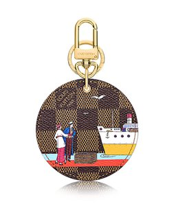 Louis Vuitton Louis Vuitton Damier Ebene ILLUSTRE EVASION BAG CHARM & KEY HOLDER