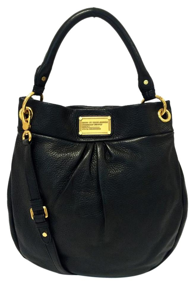 4a039866a246 Marc by Marc Jacobs Classic -q Huge Hillier Black Leather Hobo Bag ...