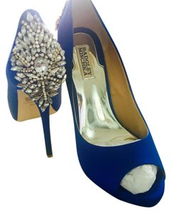 Badgley Mischka Blue Platforms