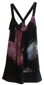 Diane von Furstenberg Fireworks Bows Silk Party Top Multicolor
