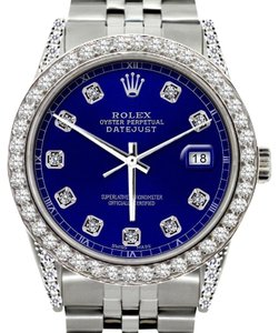 Rolex ROLEX MEN'S DATEJUST DIAMOND WATCH WITH ROLEX BOX AND APPRAISAL