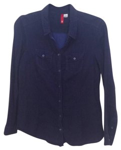 H&M Button Down Shirt Navy blue