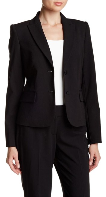 Item - Black Two Button Tailored Jacket Size 12 (L)