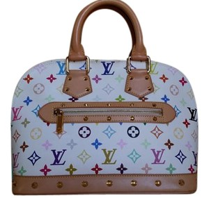 Louis Vuitton Satchel in White Multicolors