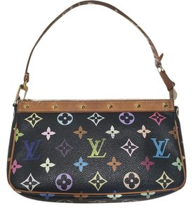 Louis Vuitton Vintage Monogram Pochette Leather Studded Baguette