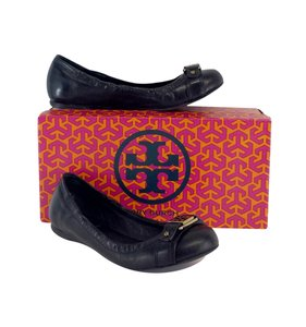 Tory Burch Ambrose Black Leather Flats