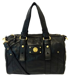 Marc by Marc Jacobs Totally Turnlock Shifty Leather Satchel in Black