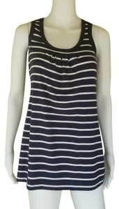 CAbi Striped Jersey Top Navy Blue