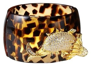 Kenneth Jay Lane Kenneth Jay Lane Iconic Collection Fish Embellished Bracelet