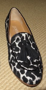 J.Crew Fun Stylish Eye-catching black and white leopard Flats