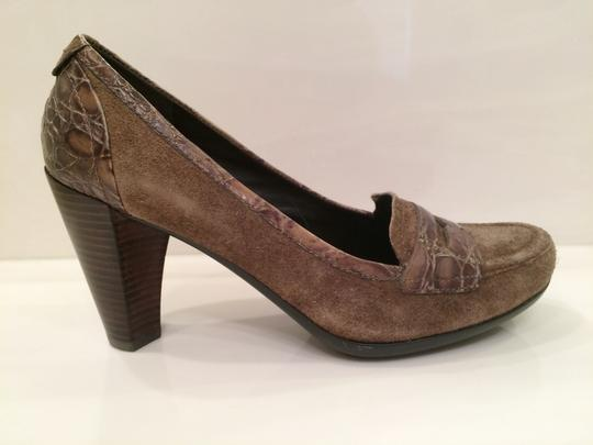 Franco Sarto Light Brown Suede/leather Padded Insoles Rubber Sole Never Worn Comfortable Walking Lt. Brown Pumps