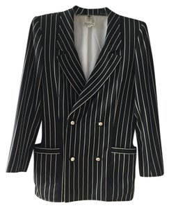 Emanuel Ungaro Striped black and white Blazer