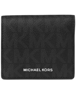 Michael Kors Michael Kors Jet Set Travel Carryall Card Case Signature Black/Silver
