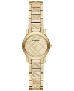 Burberry Burberry BU9234 The City Women's Swiss Gold ion-Plated Watch NEW!