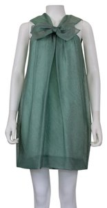 Mint Green Bow Silk Organza Dress