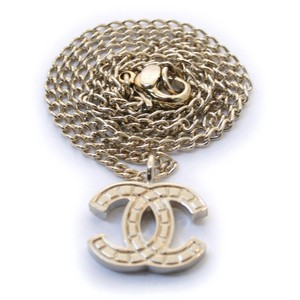 Chanel Chanel CC Logos Charm Necklace