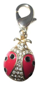 Juicy Couture Juicy Couture Lady Bug Charm, Red/black/gold color