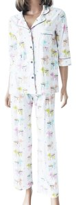 P.J. Salvage PJ SALVAGE Ivory Multi Elephants Playful Prints Pajamas Set Size L