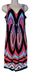 Tribal short dress multi-color Geometric Design Sleeveless on Tradesy