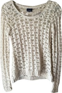 American Eagle Outfitters White Cozy Warm Wool Sweater