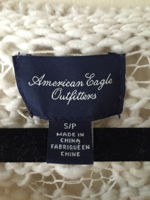 American Eagle Outfitters White Cozy Warm Wool Knit Cutout Knitted Sweater