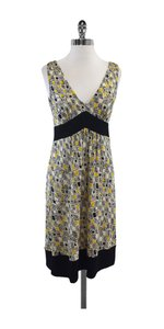 Diane von Furstenberg short dress Yellow Black Ophelia V-neck on Tradesy