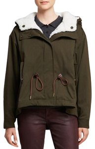 Burberry Shearling Military Olive Jacket