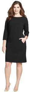 Black Maxi Dress by Tahari Zipper 3/4 Sleeves Plus Size Little