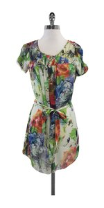 Ted Baker short dress Multi Color Watercolor Floral Silk on Tradesy