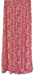 Angie Burgundy Paisley Flower Fall Skirt