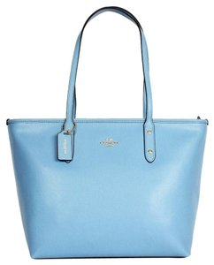Coach Shoulder Tote in Blue Jay /Gold Tone