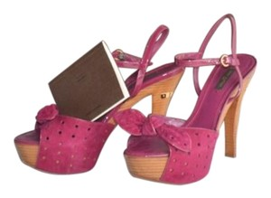 Louis Vuitton Sandal Bow Fuschia Platforms