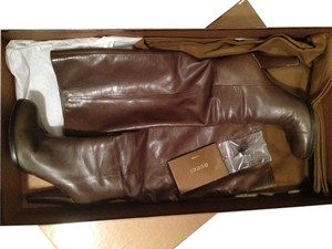 Gucci Brownish Khaki Boots