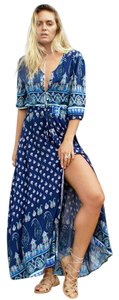 Blue Maxi Dress by Le Salty Bohemian Boho Festival