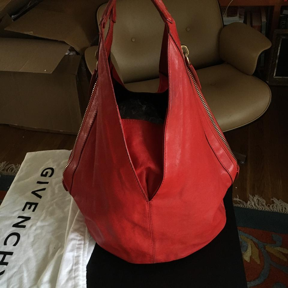 e85d845a751a Givenchy Tinhan Red Lambskin Leather Hobo Bag - Tradesy