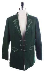 Others Follow Lodenfrey Embroidered Hunting Green Jacket
