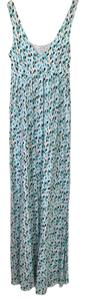 multi-pattern - emerald green, black, baby blue Maxi Dress by Ella Moss