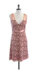 Laundry by Shelli Segal short dress Pink Floral Lace Silk on Tradesy
