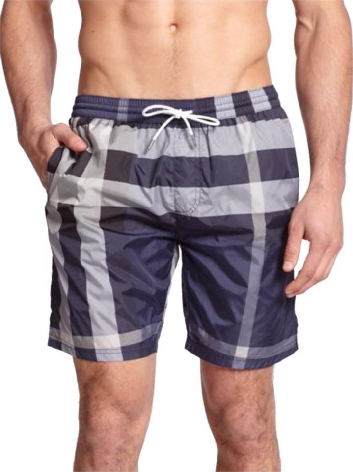 94449c4ea7 Burberry Ink Gowers Checked Swim Trunks (Mens) Activewear Bottoms ...