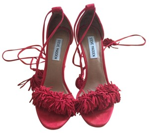 Steve Madden Sassey Red Sandals
