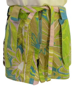 Roberto Cavalli Shorts Lime & Brown
