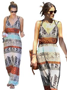 Maxi Dress by Twelfth St. by Cynthia Vincent Maxi Silk Print Boho Bohemian