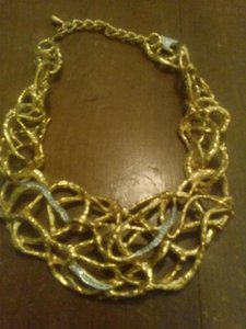 Other golden metal massive lacey chocker