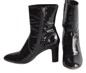 Aquatalia by Marvin K. Patent Leather Boot Black Boots