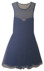 Modcloth Lace Polka Dot Tulle Fitted Dress