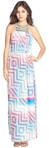Blue Multi Maxi Dress by Charlie jade