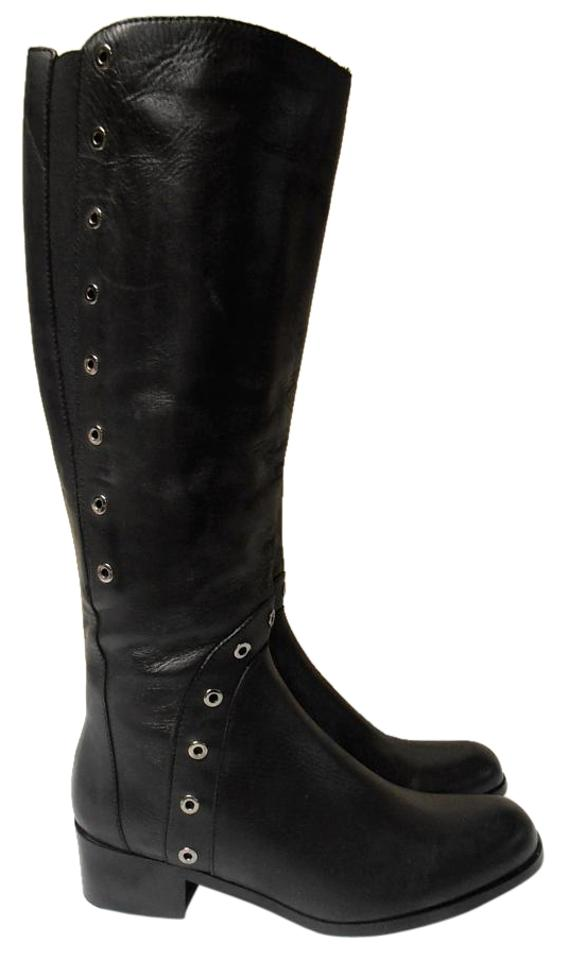 Sesto Meucci Black Made High In Italy Leather Knee High Made Boots/Booties fc9bed