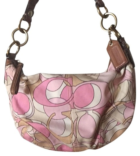 Preload https://item5.tradesy.com/images/coach-pink-and-cream-canvas-hobo-bag-1947874-0-0.jpg?width=440&height=440