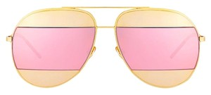 Dior DIOR DIOR SPLIT 1 0000J (color) ROSE GOLD with GOLD and PINK MIRROR LENSES