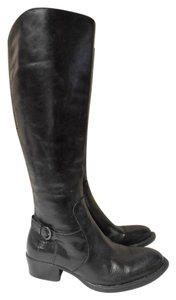 Børn Knee High Zip Up Born Riding Aquestrian Style black Boots